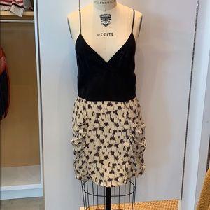 MYNE Sz 6 silk print dress
